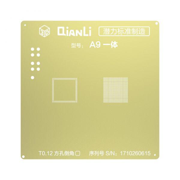 Qianli - A9 CPU + RAM 3D Gold Stencil