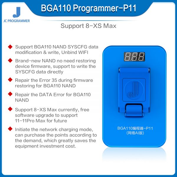 JC P11 BGA110 Programmer - iPhone 11